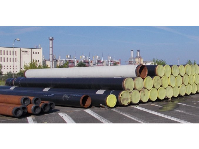 Seamless Steel pipes 610 x 8, 128 kg/m, PE, length 9 - 14 m